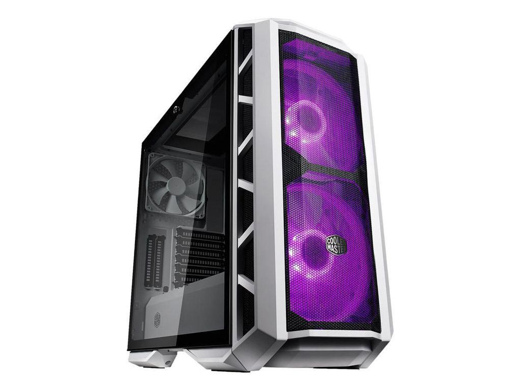 Cooler Master MasterCase H500P Windowed Mid-Tower Case Tempered Glass - Mesh White