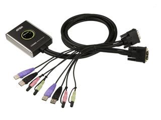 Aten KVM 2 Port USB-DVI Switch With Audio [CS682] Εικόνα 1