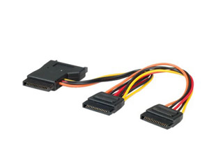 Roline Power Supply Y-Adapter Power Cable 1x SATA / 3x SATA ST [11.03.1041] Εικόνα 1