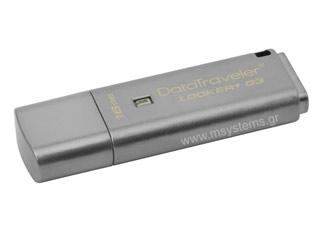 Kingston DataTraveler Locker+ G3 USB Flash 16GB [DTLPG3/16GB] Εικόνα 1