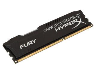 HyperX 8GB Fury Black 1600MHz CL10 [HX316C10FB/8] Εικόνα 1