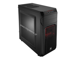 Corsair Carbide Series SPEC-01 Red LED Mid-Tower Gaming Case - Black [CC-9011050-WW] Εικόνα 1