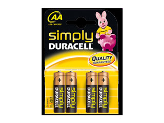 Duracell Simply Alkaline Batteries AA-LR6 4-pack [MN1500] Εικόνα 1