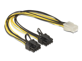 Delock Power Cable for PCI Express Card 6pin - 30cm [83433] Εικόνα 1