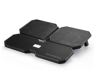 Deepcool Notebook Cooling Pad MultiCore X6 - Black [DP-N422-MCX6] Εικόνα 1