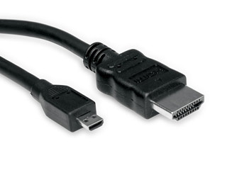 Roline HDMI - microHDMI M - M Adapter cable 0,8m [11.99.5579] Εικόνα 1