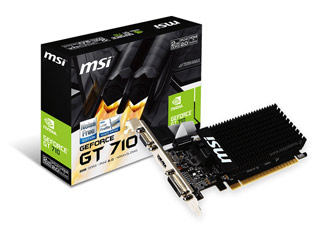 MSI GeForce GT 710 2GD3H LP 2GB - Silent - Low Profile [912-V809-2016] Εικόνα 1
