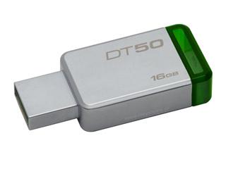 Kingston DataTraveler 50 - USB 3.1 Gen 1 Flash 16GB - (Metal/Green) [DT50/16GB] Εικόνα 1