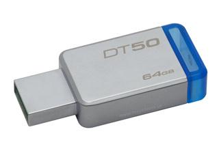 Kingston DataTraveler 50 - USB 3.1 Gen 1 Flash 64GB - (Metal/Blue) [DT50/64GB] Εικόνα 1