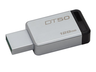 Kingston DataTraveler 50 - USB 3.1 Gen 1 Flash 128GB - (Metal/Black) [DT50/128GB] Εικόνα 1