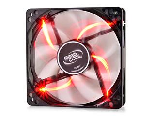 Deepcool Wind Blade 120 Red Light 120x120x25mm [DP-FLED-WB120-RD] Εικόνα 1