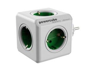 Allocacoc PowerCube Original 5xSchuko Green [1100GN/DEORPC] Εικόνα 1