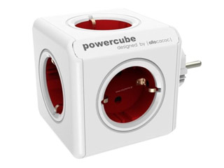 Allocacoc PowerCube Original 5xSchuko Red [1100RD/DEORPC] Εικόνα 1