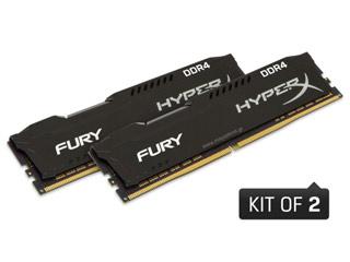 HyperX 16GB Fury DDR4 2666MHz Non-ECC CL16 Black (Kit of 2) [HX426C16FB2K2/16] Εικόνα 1