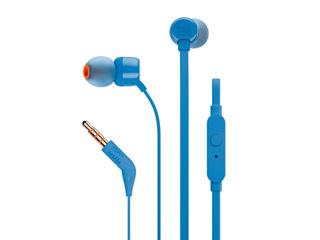 JBL T110 Earphones - Blue [JBLT110BLU] Εικόνα 1
