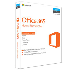 Microsoft Office 365 Home English P2 (1 Year) [6GQ-00684] Εικόνα 1