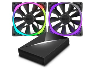 NZXT Aer RGB 140mm & HUE+ Bundle [RF-AR140-C1] Εικόνα 1