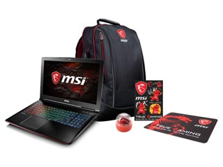 MSI Notebook i7-7700HQ - 16GB - 256GB SSD + 1TB - GTX 1070 8GB - Win 10 [GE62MVR 7RG-036NL] Εικόνα 1