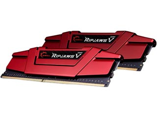 G.Skill 8GB Ripjaws V DDR4 2666MHz Non-ECC CL15 15-15-35  (Kit of 2) Red [F4-2666C15D-8GVR] Εικόνα 1