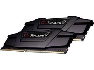 G.Skill 8GB Ripjaws V DDR4 3200MHz Non-ECC CL16 18-18-38 (Kit of 2) Black [F4-3200C16D-8GVKB] Εικόνα 1