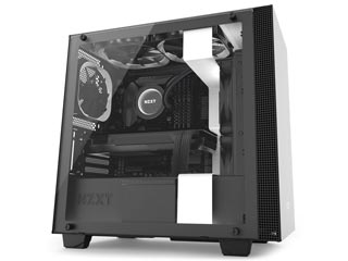 NZXT H Series H400i RGB Windowed Mid-Tower Case with CAM-Smart Features - Matte White [CA-H400W-WB] Εικόνα 1