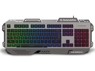 ZeroGround RGB Aluminium Gaming Keyboard KB-2300G Sagara [KB-2300G] Εικόνα 1