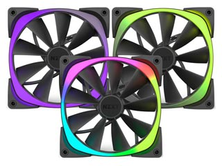 NZXT Aer RGB 140mm Airflow Fan - Triple Pack [RF-AR140-T1] Εικόνα 1