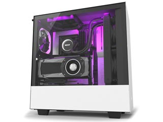 NZXT H Series H500i RGB Windowed Mid-Tower Case with CAM-Smart Features - Matte White [CA-H500W-W1] Εικόνα 1