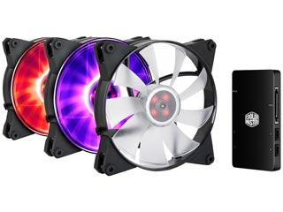 Cooler Master MasterFan Pro 140 Air Flow RGB 3in1 Fan + RGB Controller Pack [MFY-F4DC-083PC-R1] Εικόνα 1