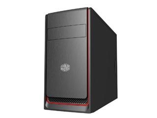 Cooler Master MasterBox E300L Mini-Tower Case - Red Trim [MCB-E300L-KN5N-B00] Εικόνα 1