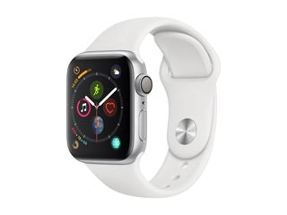 Apple Watch Series 4 GPS 40mm Silver Aluminium Case with White Sport Band [MU642GK] Εικόνα 1