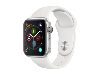 Apple Watch Series 4 GPS 44mm Silver Aluminium Case with White Sport Band [MU6A2GK] Εικόνα 1