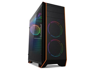 SuperCase Thor TH06A RGB Windowed Mid-Tower Case - Black Εικόνα 1