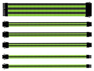 Cooler Master Sleeved Extension Cable Kit - Black & Green [CMA-SEST16GRBK1-GL] Εικόνα 1