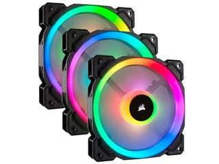 Corsair LL120 RGB 120mm Dual Light Loop RGB PWM - 3 Fan Pack with Lighting Node Pro [CO-9050072-WW] Εικόνα 1