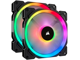 Corsair LL140 RGB 140mm Dual Light Loop RGB PWM - 2 Fan Pack with Lighting Node Pro [CO-9050074-WW] Εικόνα 1