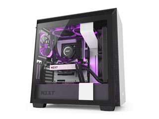 NZXT H Series H710i RGB Windowed Mid-Tower Case with 2nd Gen CAM-Smart Features - White [CA-H710i-W1] Εικόνα 1