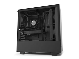 NZXT H Series H510i Windowed Mid-Tower Case with 2nd Gen CAM-Smart Features - Black [CA-H510i-B1] Εικόνα 1