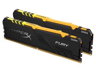 HyperX 16GB Fury RGB DDR4 2666MHz 1Rx8 Non-ECC CL16 (Kit of 2) [HX426C16FB3AK2/16] Εικόνα 1