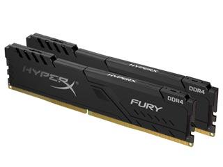 HyperX 8GB Fury DDR4 2666MHz Non-ECC CL16 (Kit of 2) [HX426C16FB3K2/8] Εικόνα 1