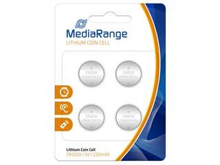 Mediarange Μπαταρία Λιθίου Coin Cells CR2032 3V - 4 Pack [MRBAT132] Εικόνα 1