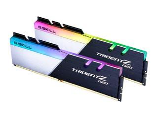 G.Skill 16GB Trident Z Neo DDR4 3600MHz Non-ECC CL16 19-19-39 (Kit of 2) Silver/Black [F4-3600C16D-16GTZNC] Εικόνα 1
