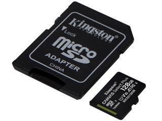 Kingston Canvas Select Plus 128GB micro SDXC Class 10 UHS-1 U1 V10 + SD Adapter [SDCS2/128GB] Εικόνα 1