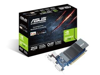 Asus GeForce GT 710 SL-2GD5 2GB - Silent - Low Profile [90YV0AL1-M0NA00] Εικόνα 1