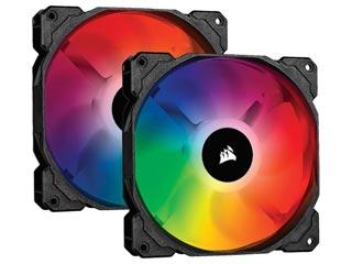 Corsair SP140 RGB PRO Performance 140mm 2-Fan Pack with Lighting Node Core [CO-9050096-WW] Εικόνα 1