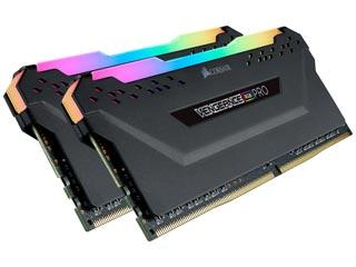 Corsair Vengeance RGB PRO 16GB DDR4 3200MHz CL16 (Kit of 2) - Black [CMW16GX4M2C3200C16] Εικόνα 1
