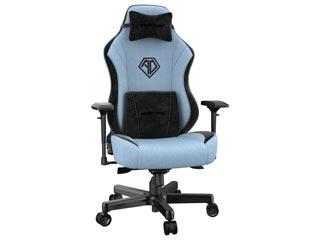 Anda Seat Gaming Chair T-Pro Fabric - Light Blue / Black with Alcantara Strips [AD18-02-SB-F] Εικόνα 1