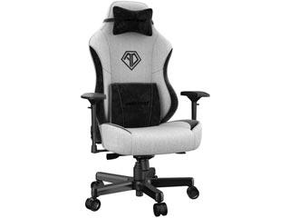 Anda Seat Gaming Chair T-Pro Fabric - Light Grey / Black with Alcantara Strips [AD18-03-GB-F] Εικόνα 1