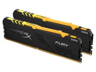 HyperX 64GB Fury RGB DDR4 2666MHz Non-ECC CL16 (Kit of 2) [HX426C16FB3AK2/64] Εικόνα 1