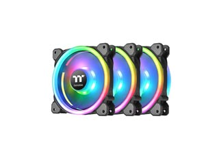 Thermaltake Fan Riing Trio 12 RGB Radiator Fan Premium Edition 3-Fan Pack + Controller [CL-F072-PL12SW-A] Εικόνα 1